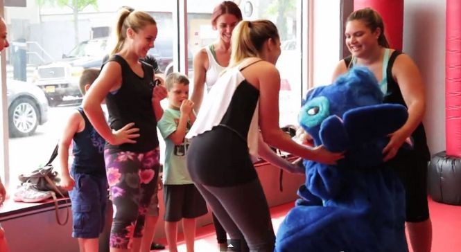 Girl Proposes to Girlfriend at Kickboxing Class (1)