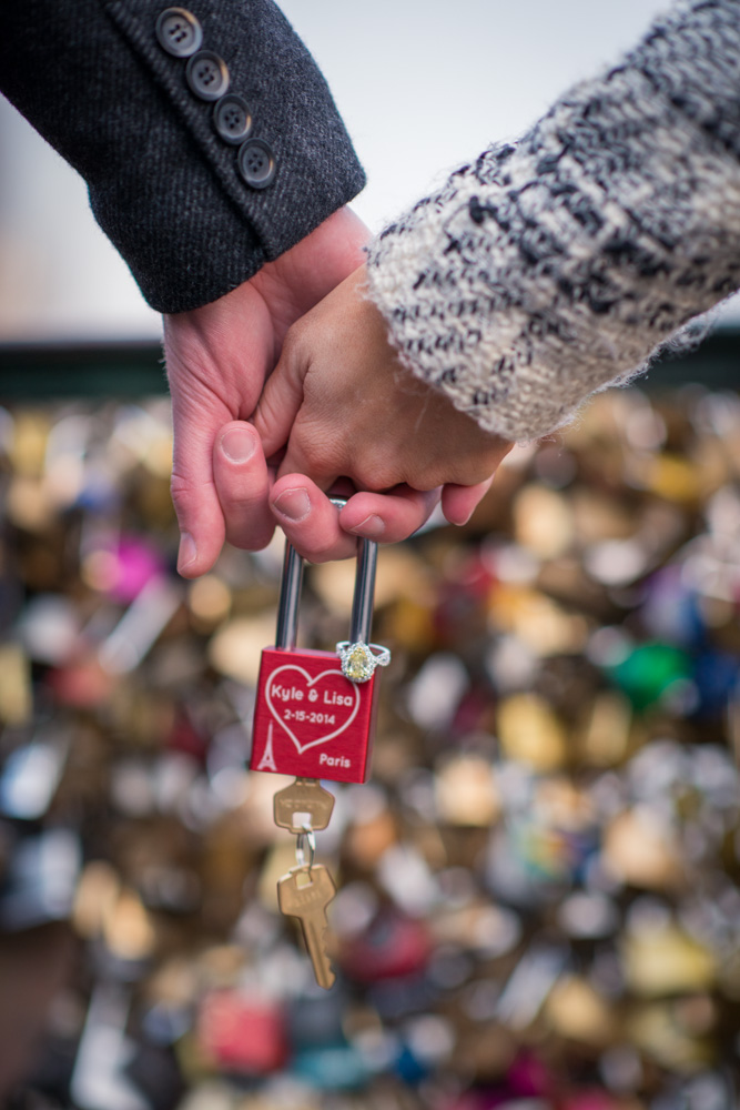 Love Lock Bridge France proposal (1)