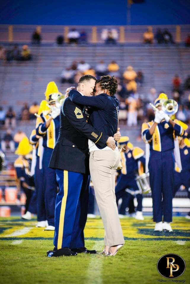 Marching Band Marriage Proposal (1)