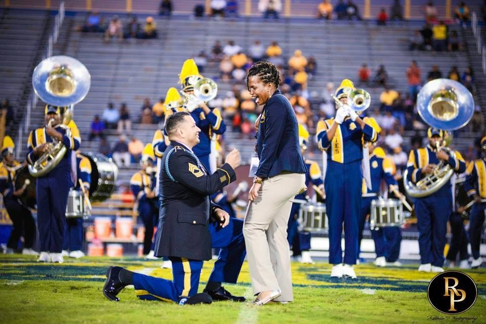Marching Band Marriage Proposal (4)