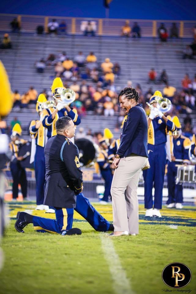 Marching Band Marriage Proposal (5)