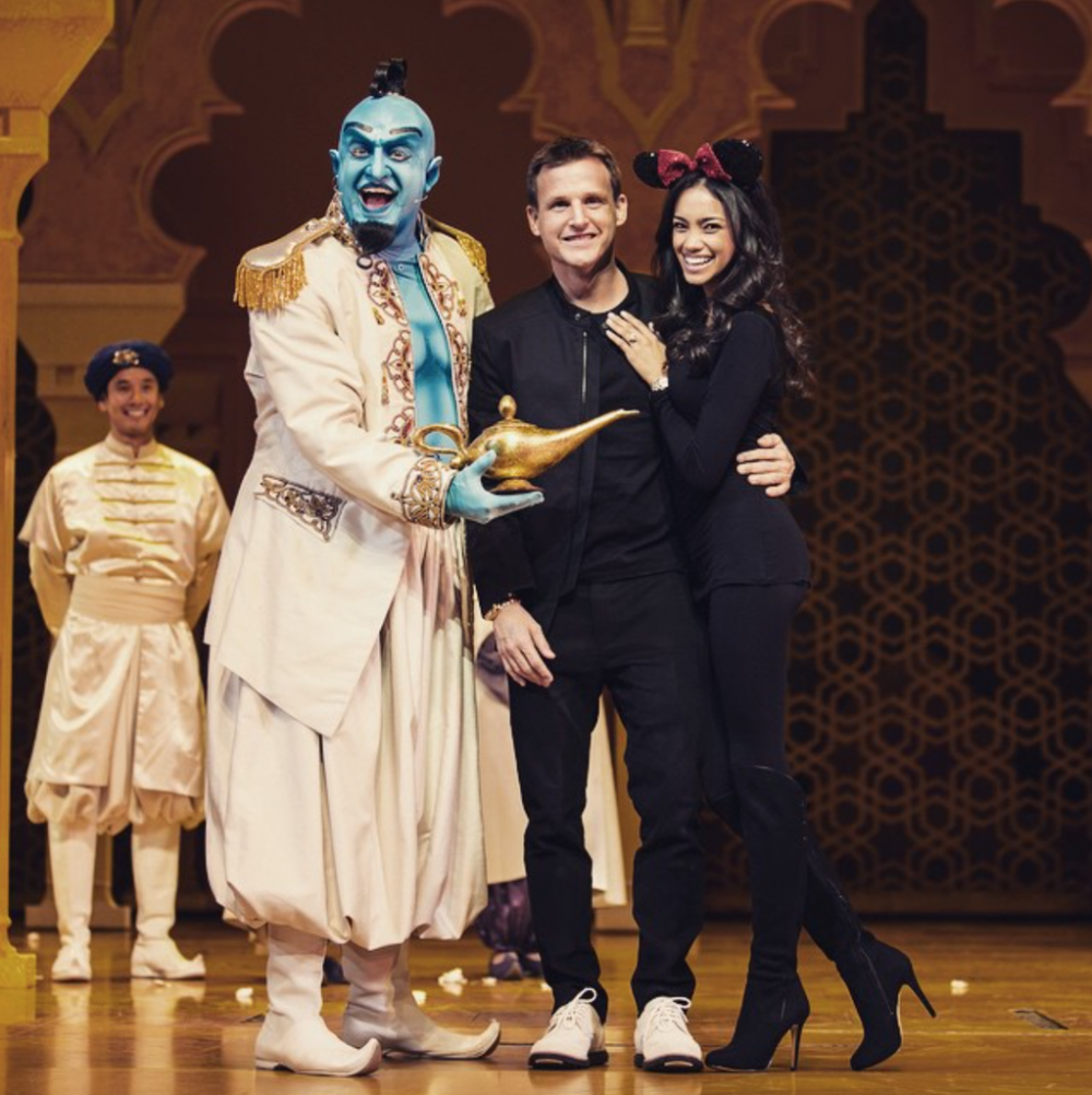 Rob Dyrdek Proposal at Disneyland Aladdin Musical (1)