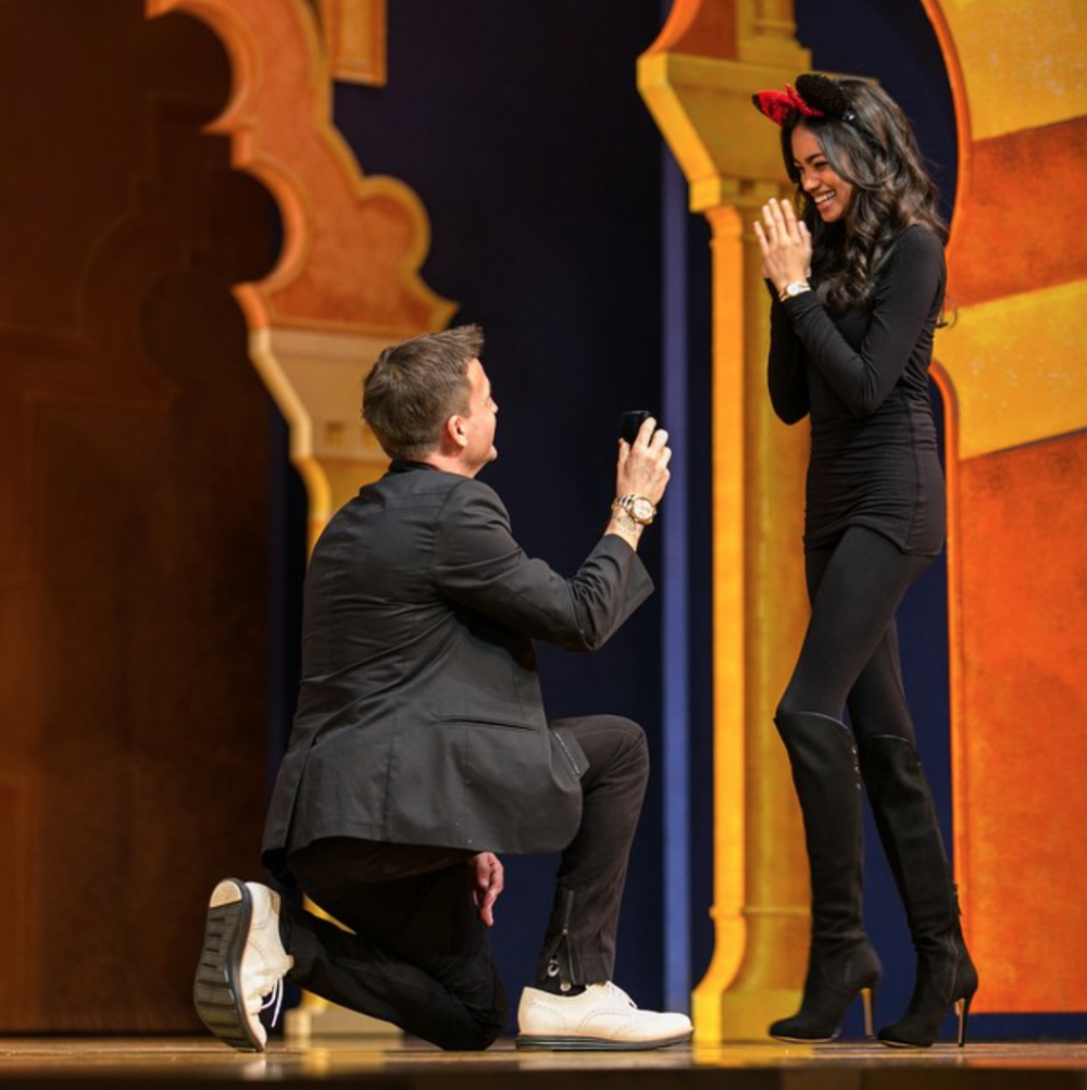 Rob Dyrdek Proposal at Disneyland Aladdin Musical (3)