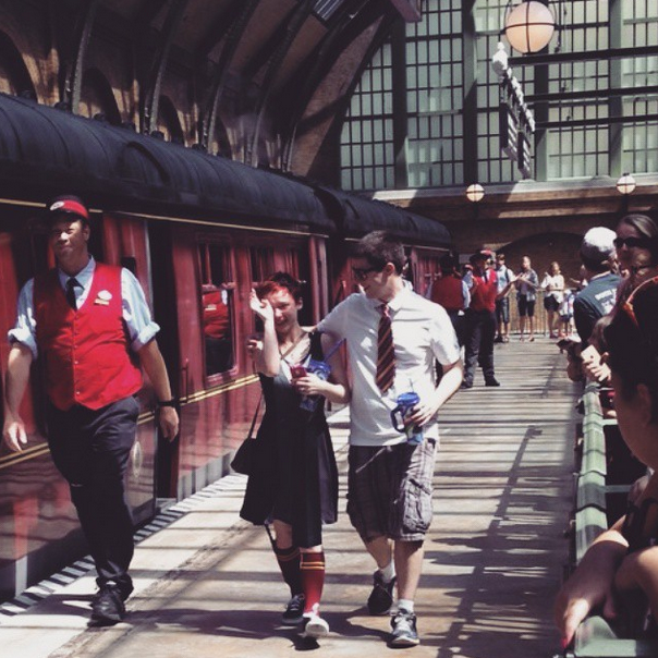 Image 2 of Stephanie and David's Marriage Proposal on the Hogwart's Express