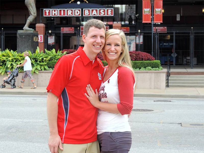 Image 3 of Shane Co. Couple: Stephanie and Bryce's St. Louis Cardinals Proposal