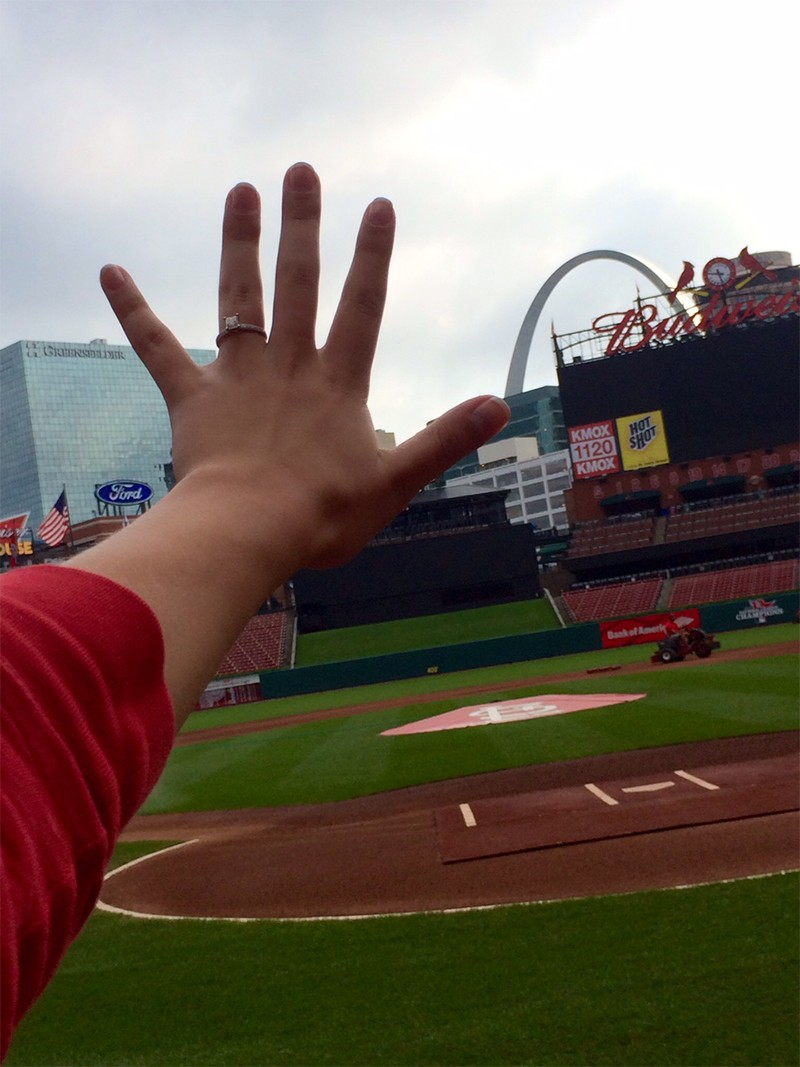 Image 6 of Shane Co. Couple: Stephanie and Bryce's St. Louis Cardinals Proposal