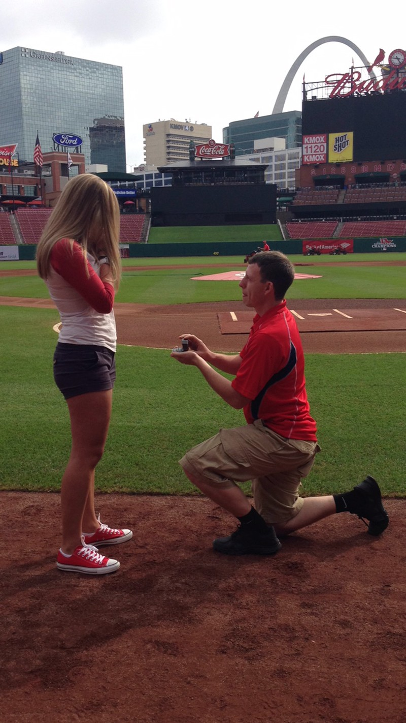 Image 4 of Shane Co. Couple: Stephanie and Bryce's St. Louis Cardinals Proposal