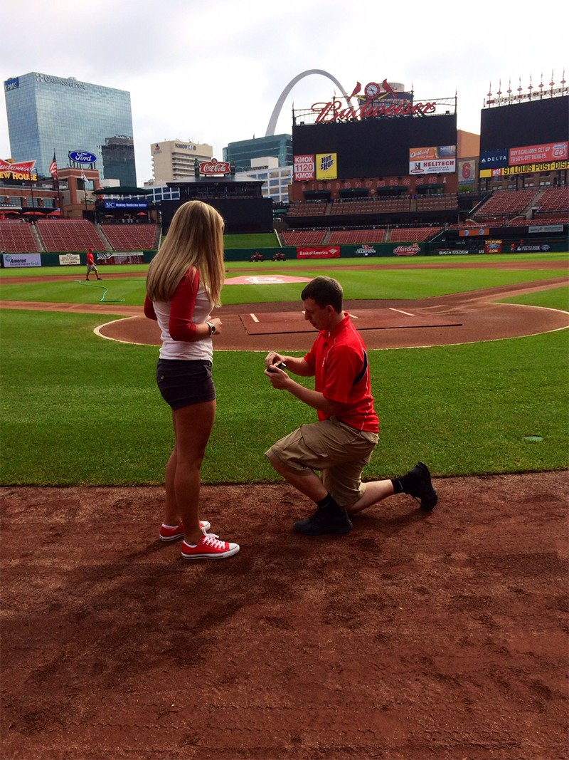 Image 2 of Shane Co. Couple: Stephanie and Bryce's St. Louis Cardinals Proposal