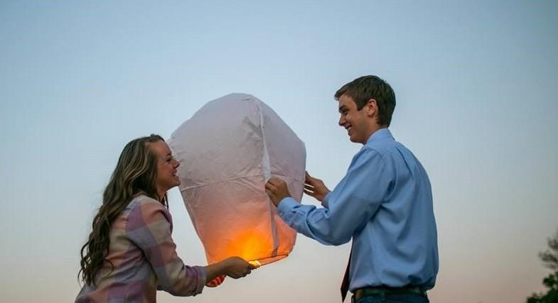 Bride's Proposal in big rock park, glen rose, texas