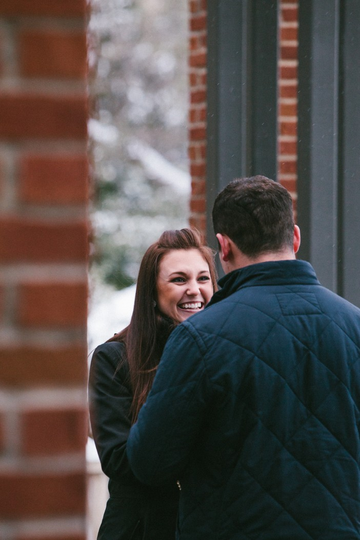 Image 3 of Emma and Brian's Snowy Proposal in Texas