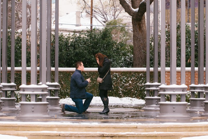 Image 4 of Emma and Brian's Snowy Proposal in Texas