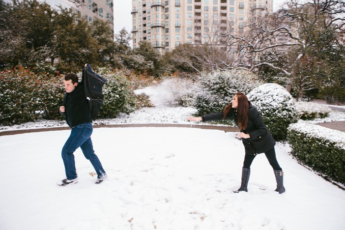 Image 2 of Emma and Brian's Snowy Proposal in Texas