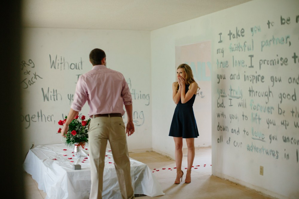 Image 9 of Morgan and Jackson's Proposal in their New First Home