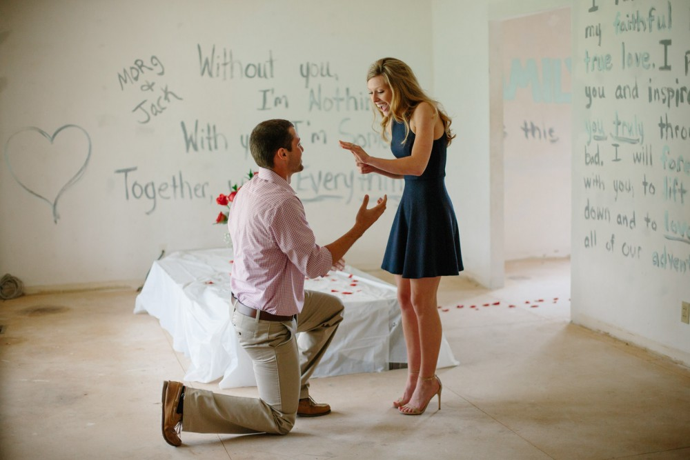 Image 12 of Morgan and Jackson's Proposal in their New First Home
