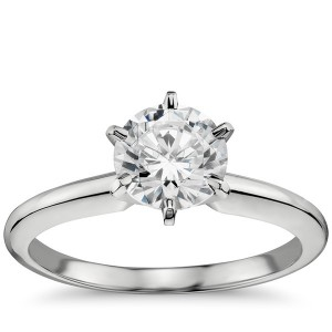 Classic Six-Prong Solitaire Engagement Ring