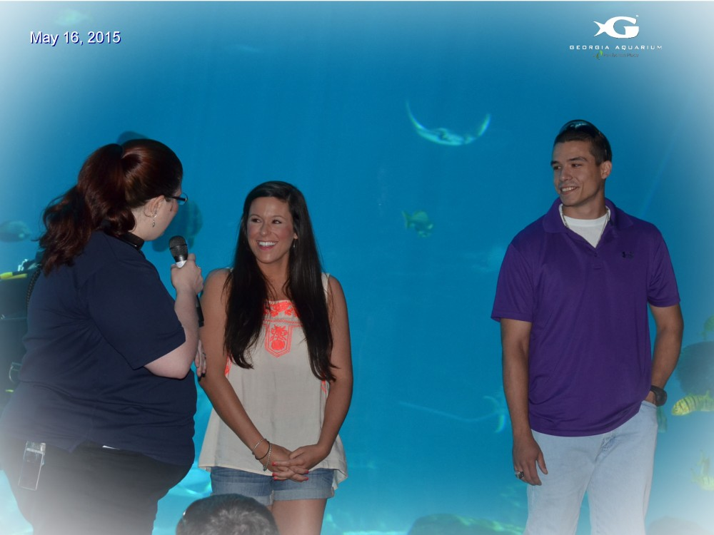 Image 6 of Megan and TJ's Georgia Aquarium Proposal