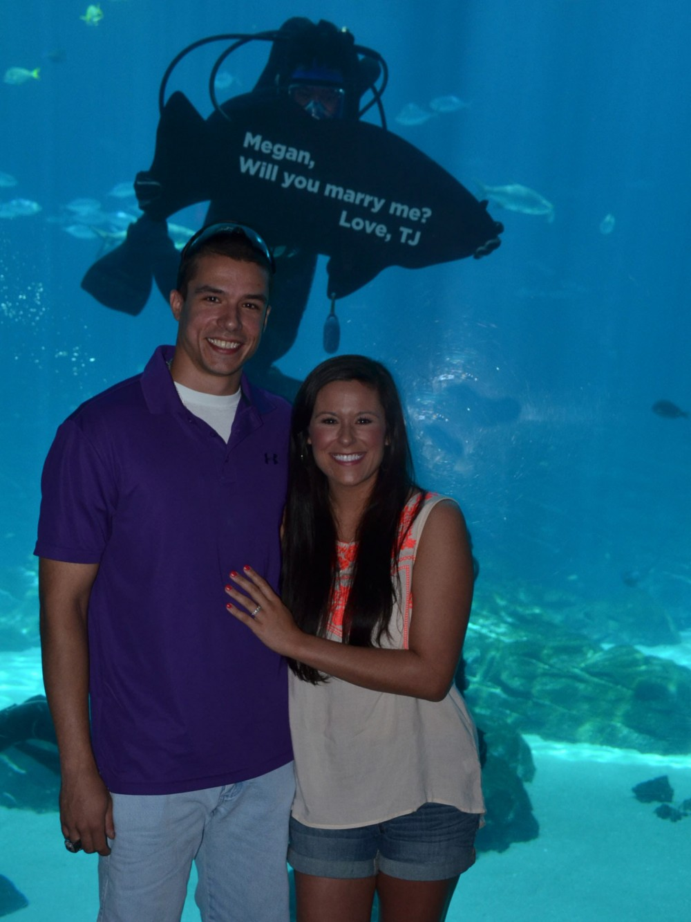 Image 4 of Megan and TJ's Georgia Aquarium Proposal