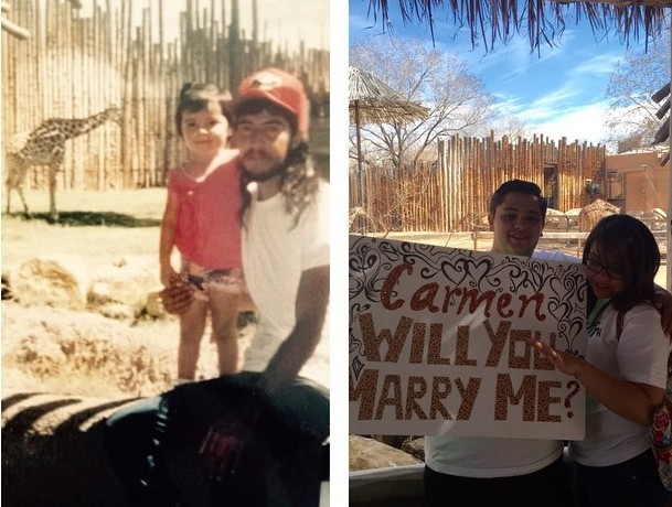 Wedding Proposal Ideas in albuquerque zoo
