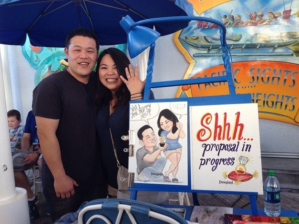 Image 1 of Sharon and Ryan's Caricature Marriage Proposal
