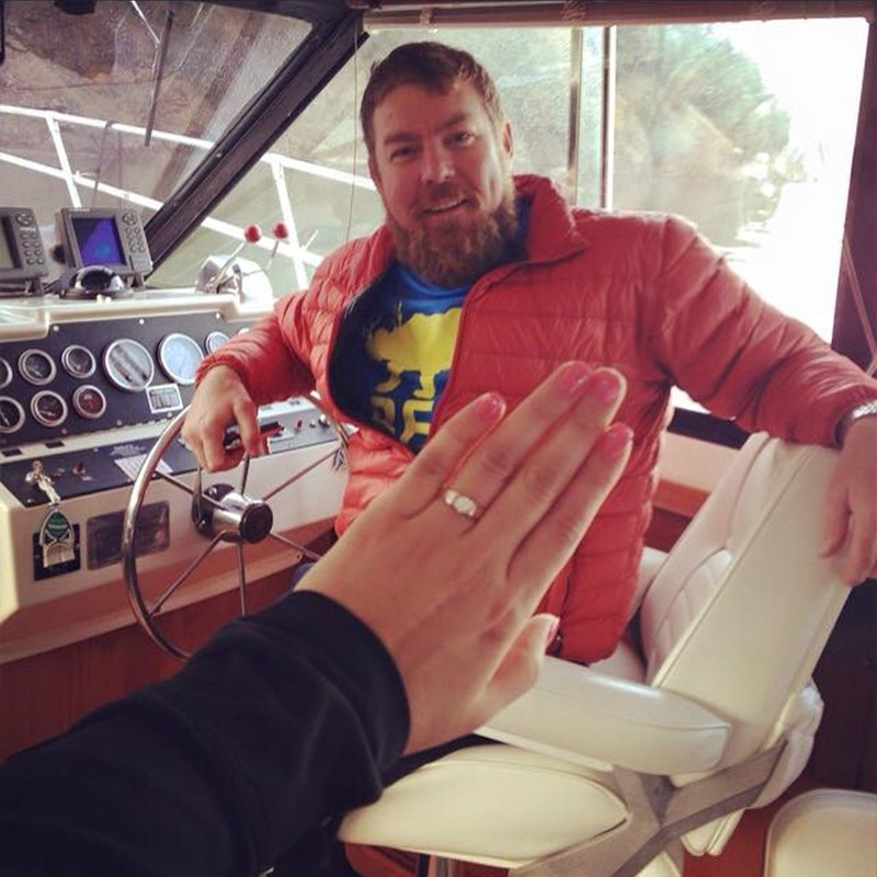 Image 4 of Shane Co. Couple: Lucy & Michael's Sunset Boat Proposal