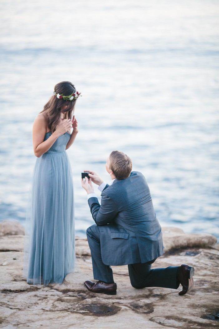 Romantic La Jolla Proposal at Sunset_10
