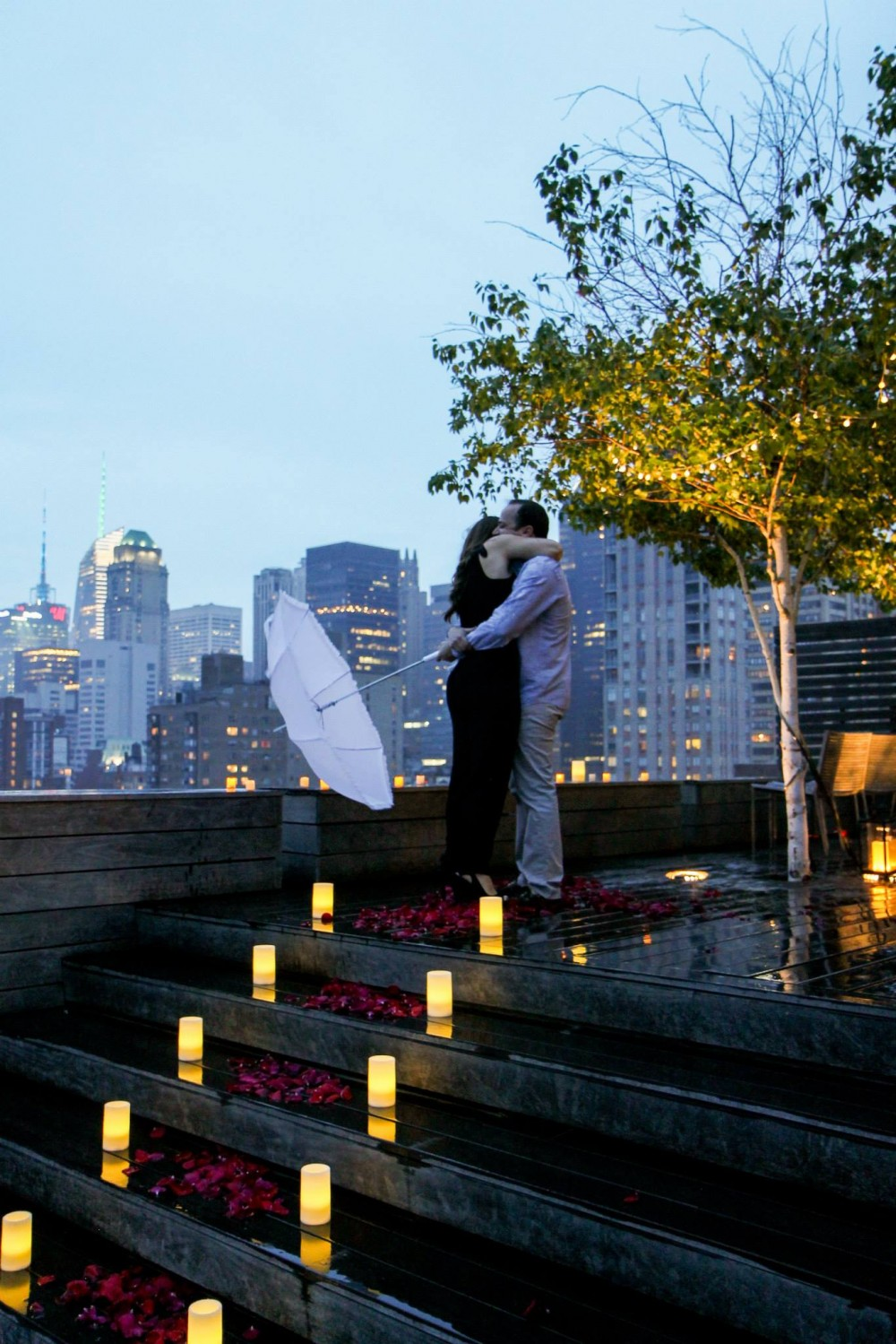 Romantic New York City Rooftop Proposal (10)