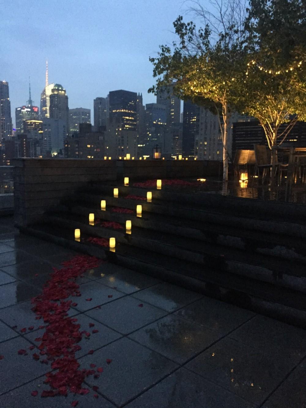 Romantic New York City Rooftop Proposal (11)