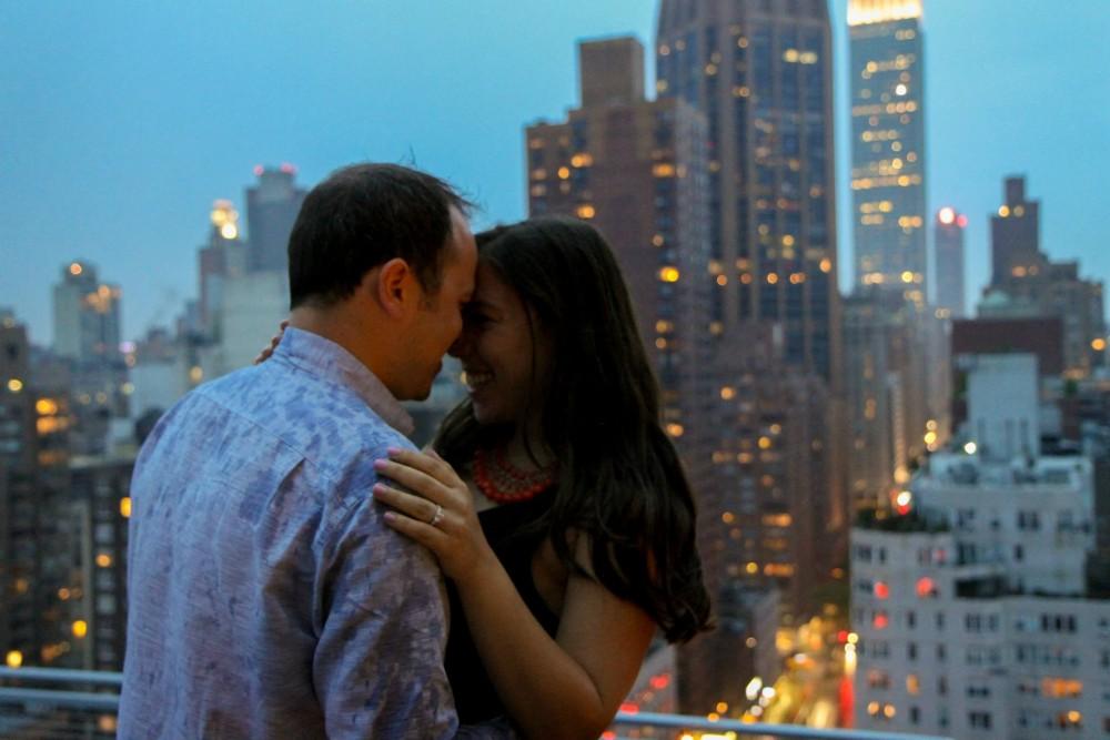 Romantic New York City Rooftop Proposal (5)