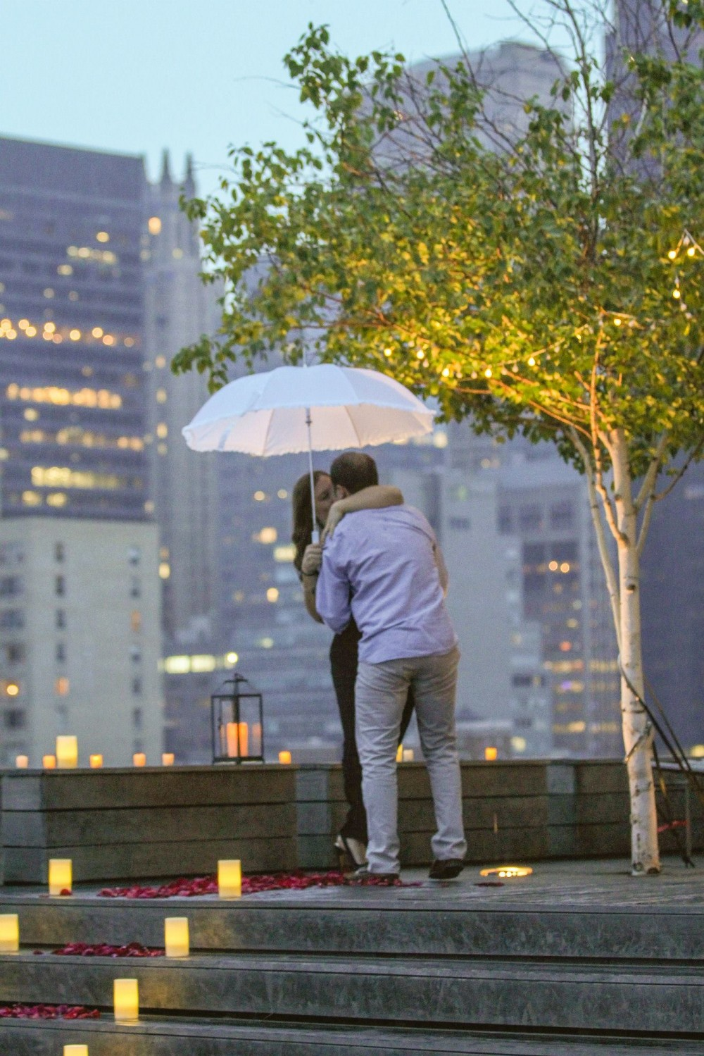Romantic New York City Rooftop Proposal (8)