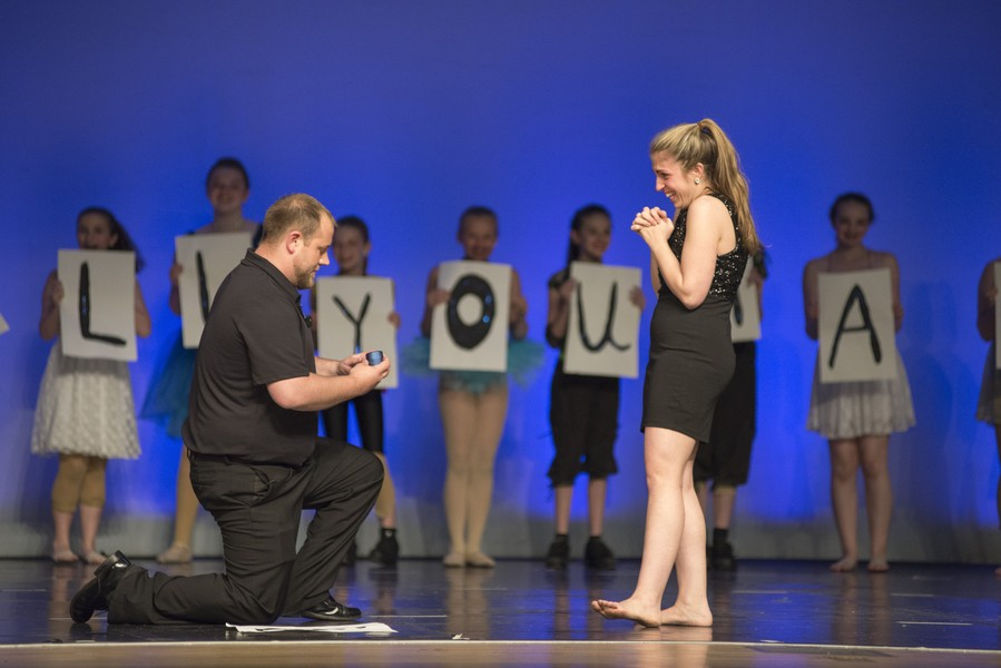Surprise Proposal at Dance Teacher's Recital