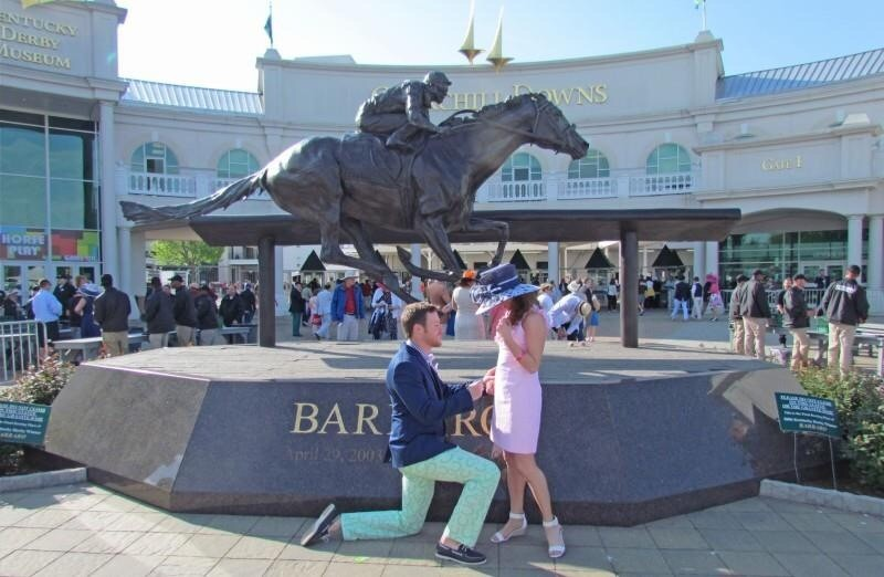 Marriage Proposal at the Kentucky Derby