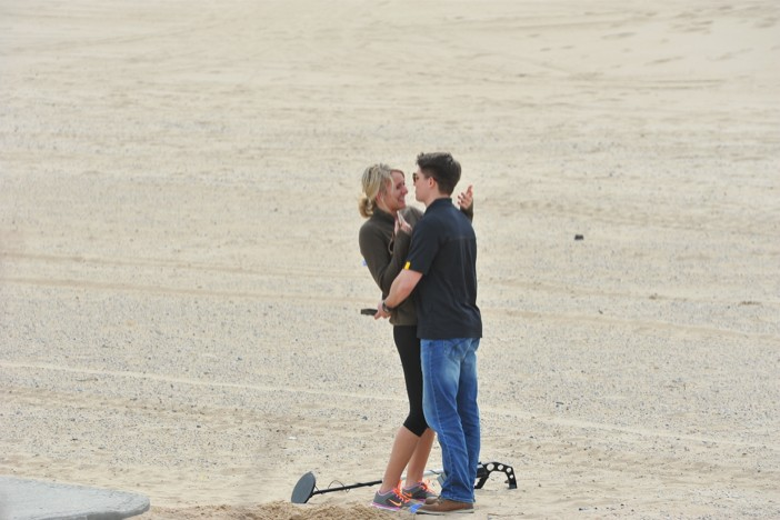 Image 2 of Metal Detector finds Engagement Ring for Surprise Marriage Proposal