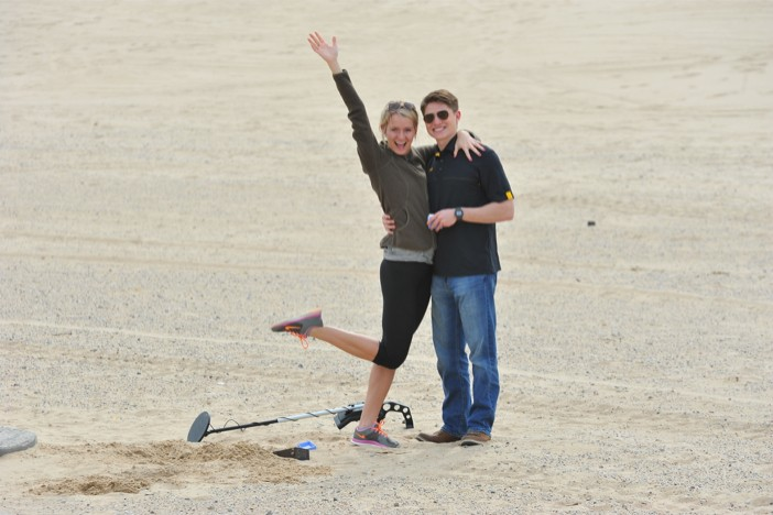 Image 4 of Metal Detector finds Engagement Ring for Surprise Marriage Proposal