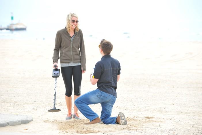 Image 3 of Metal Detector finds Engagement Ring for Surprise Marriage Proposal