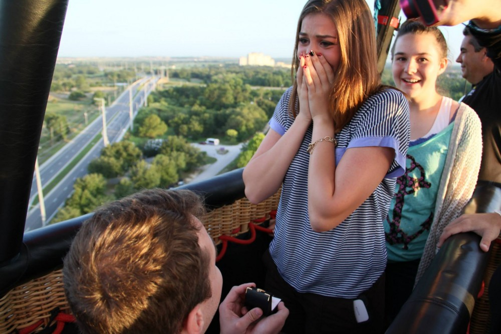 Hot Air Balloon Marriage Proposal