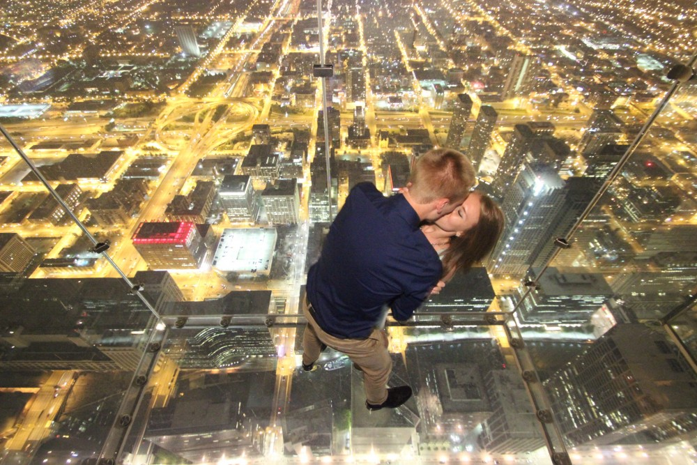 Image 4 of Ashley and Josh's Skydeck Proposal