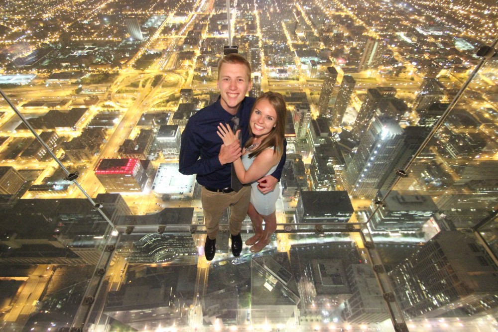Image 5 of Ashley and Josh's Skydeck Proposal