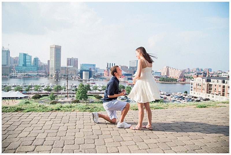 Image 2 of Natalie and Josh's Marriage Proposal on Federal Hill