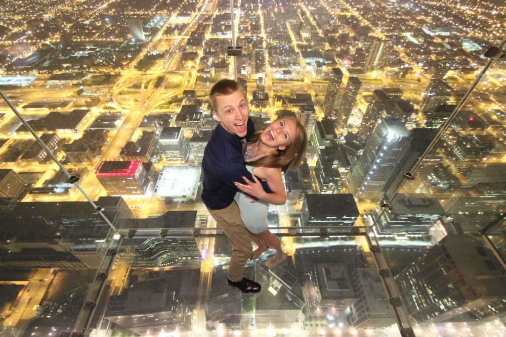 Image 2 of Ashley and Josh's Skydeck Proposal