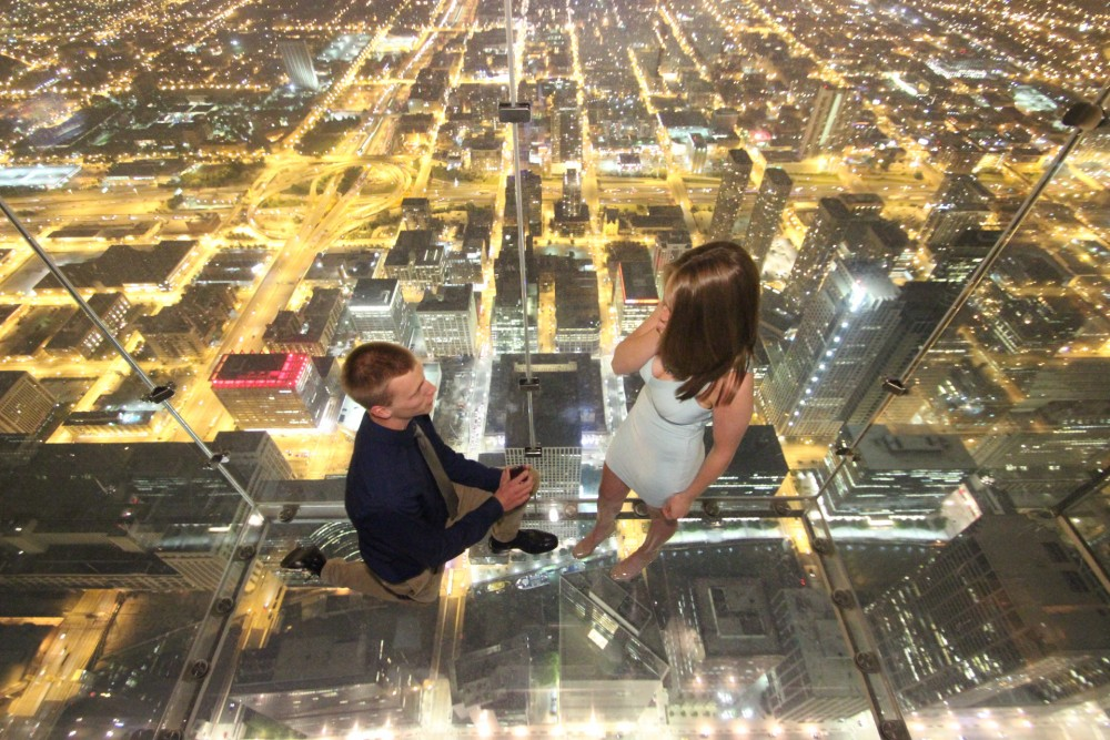 Image 3 of Ashley and Josh's Skydeck Proposal
