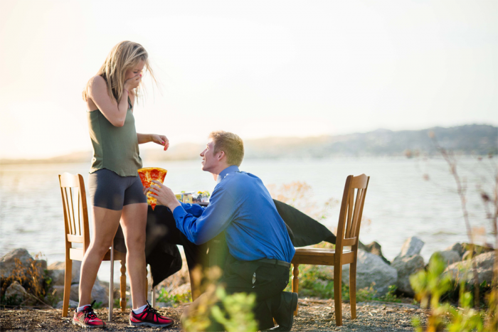 Image 1 of Proposal Photos Are Way Better When Engagement Rings Are Replaced With Pizza