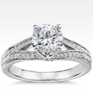 Eternal Pavé Split Shank Diamond Engagement