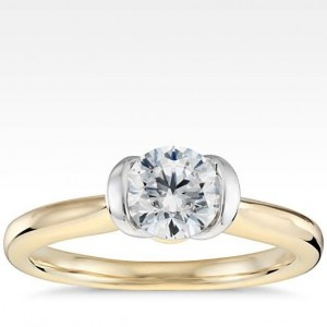 Semi-Bezel Solitaire Engagement Ring