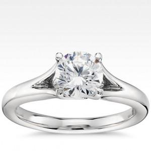 Eternal Trellis Solitaire Engagement Ring