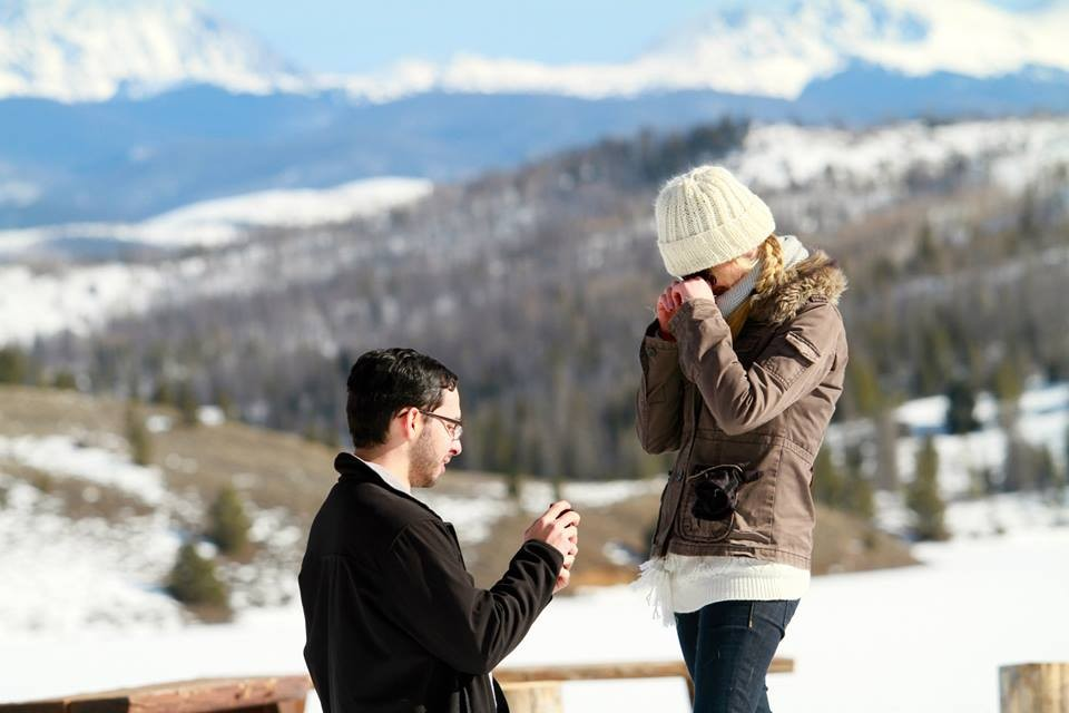 Image 1 of Sarah and Rodolfo Snowy Ranch Proposal
