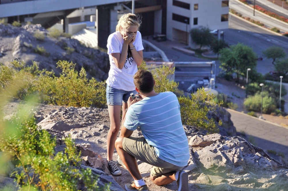 Image 1 of Mikah and Brad's Mountaintop Proposal