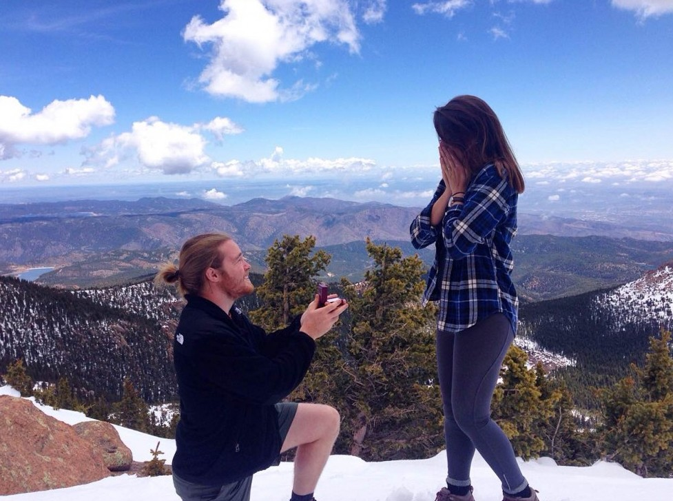 Engagement Proposal Ideas in pikes peak mountain, colorado