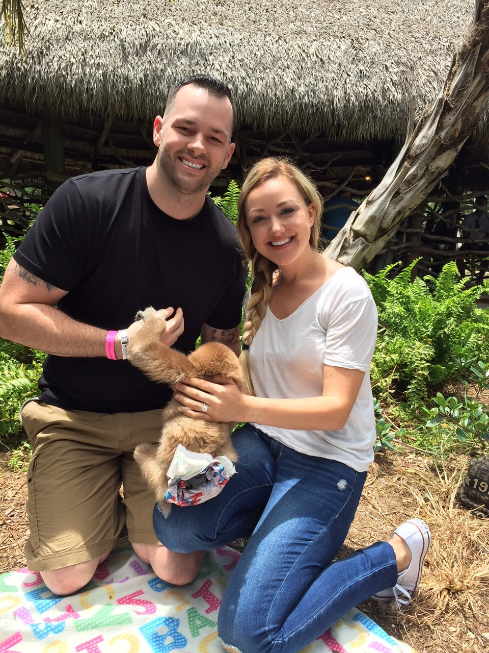 Image 3 of Jessica and Garrett's Marriage Proposal with a Baby Monkey