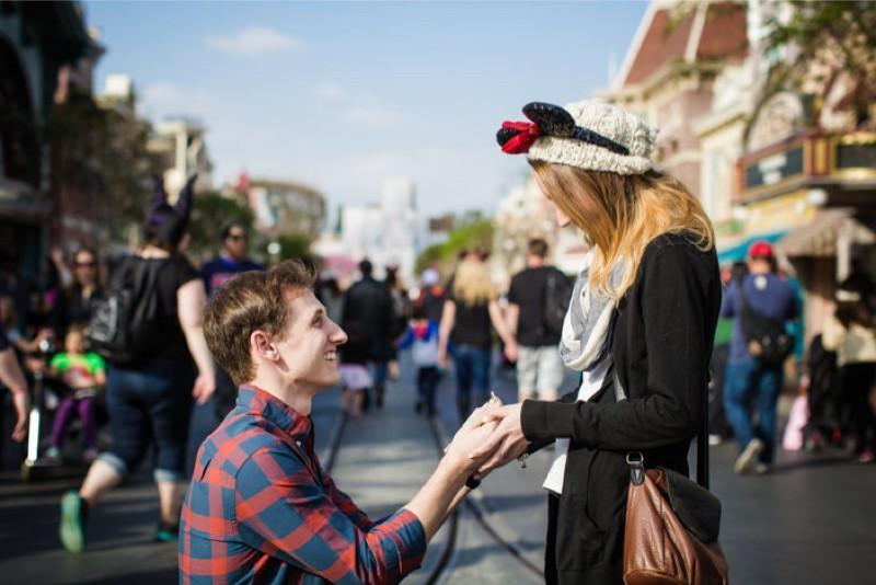 Image 4 of Jane and Patrick's Surprise Disneyland Marriage Proposal