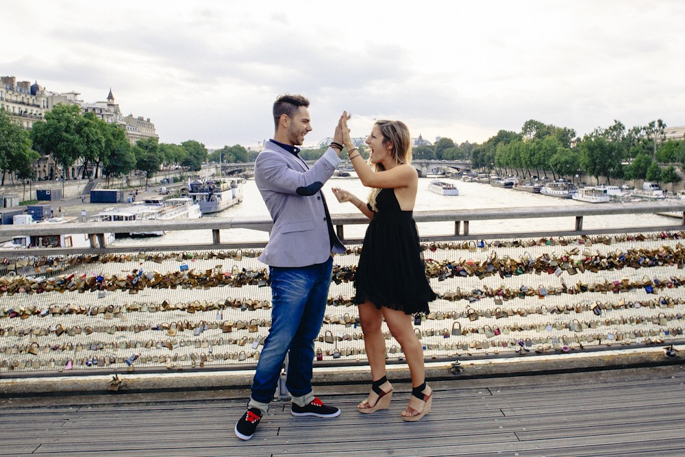Image 4 of Gino and Maria's Love Lock Marriage Proposal in Paris